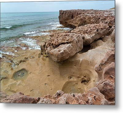 Looking Down From Above Blowing Rocks Preserve Metal Print by Michelle Wiarda