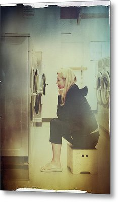 Looking For Answers In All The Wrong Places Metal Print by Laurie Search