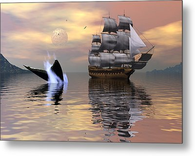Looking For Moby Dick Metal Print by Claude McCoy