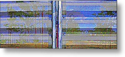 Looking Through The Gate Metal Print by Randall Weidner