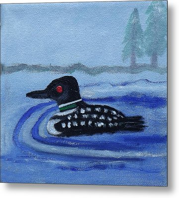 Loon On Lake Winnipeaukee Metal Print