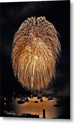 Lopez Island Fireworks 1 Metal Print by David Salter