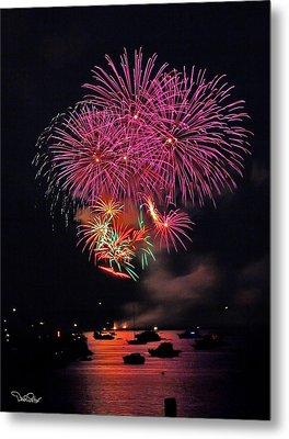 Lopez Island Fireworks 4 Metal Print by David Salter