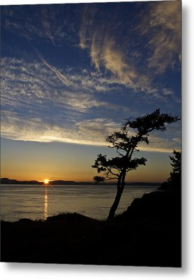 Lopez Island Sunset Metal Print by Tony Locke