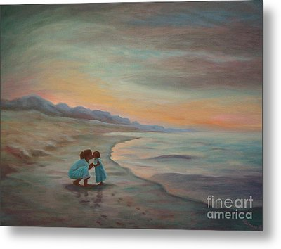Metal Print featuring the painting Loren And Jewel by Gretchen Allen