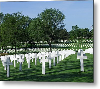 Metal Print featuring the photograph Lorraine Wwii American Cemetery St Avold France by Joseph Hendrix