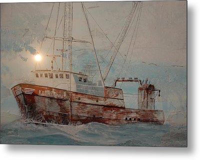 Lost At Sea Metal Print by Jim Cook