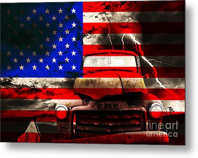 Lost In America Metal Print by Wingsdomain Art and Photography
