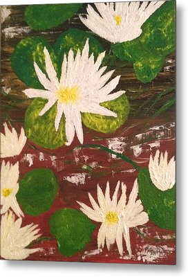 Lotus Flowers Metal Print by Pretchill Smith