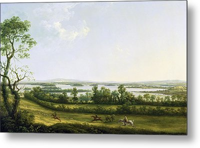 Lough Erne From Knock Ninney - With Bellisle In The Distance Metal Print by Thomas Roberts