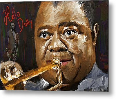 Louis Armstrong Hello Dolly Metal Print by Yury Malkov