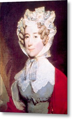 Louisa Adams 1775-1852, First Lady Metal Print by Everett