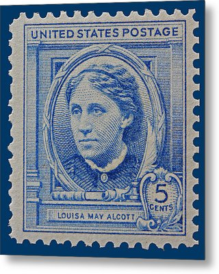 Louisa May Alcott Postage Stamp  Metal Print