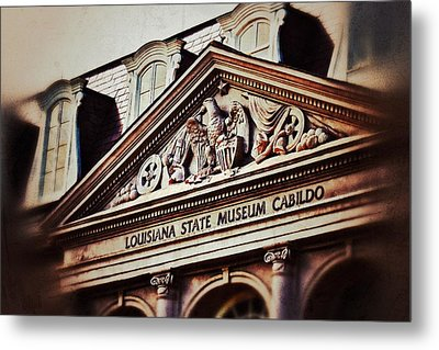 Metal Print featuring the photograph Louisiana State Museum Cabildo by Jim Albritton