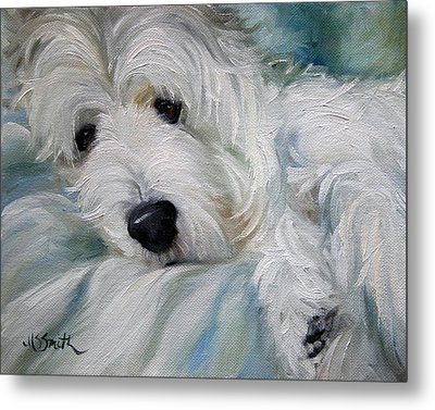 Lounging In The Shadows Metal Print by Mary Sparrow
