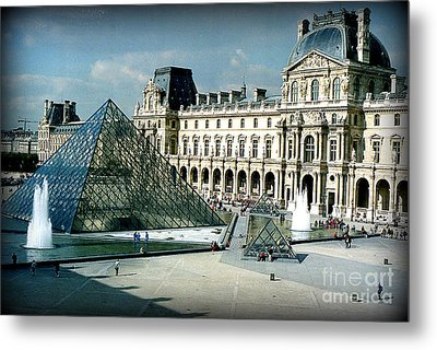Metal Print featuring the photograph Louvre by Kathy Bassett