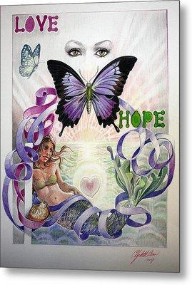Love And Hope Metal Print by Elizabeth Shafer