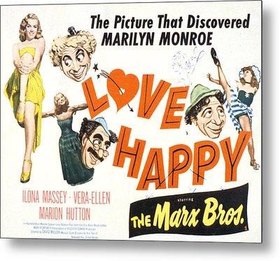 Love Happy, Marilyn Monroe, Marion Metal Print by Everett