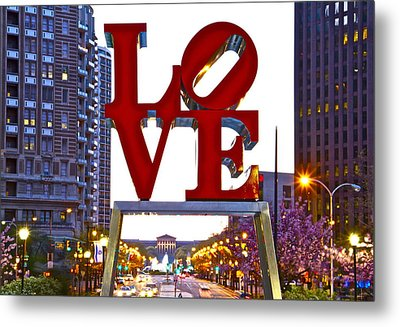 Metal Print featuring the photograph Love In Philadelphia by Alice Gipson