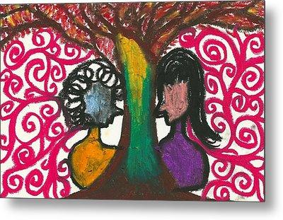 Love In The Tree's Explostion Metal Print by Ivy T Flanders