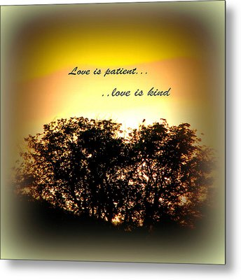 Love Is Patient   Metal Print by Michelle Frizzell-Thompson