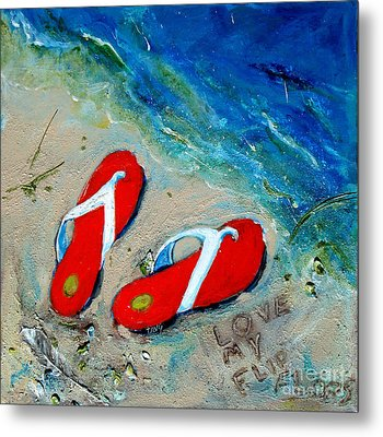 Love My Flipflops Metal Print