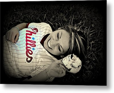 Love Of The Game Metal Print by Ashley Branstetter