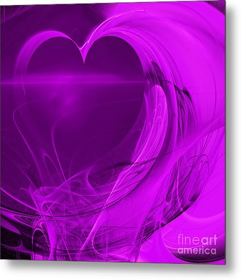 Love . Square . A120423.279 Metal Print by Wingsdomain Art and Photography