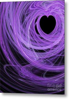 Love Swirls . A120423.689 Metal Print