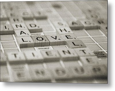Love Tiled 1 Metal Print by Mary Hershberger