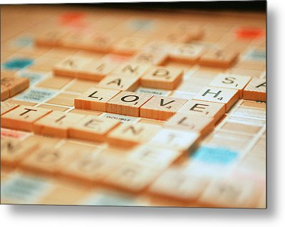 Love Tiled 2 Metal Print by Mary Hershberger