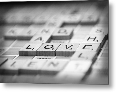 Love Tiled 3 Metal Print by Mary Hershberger