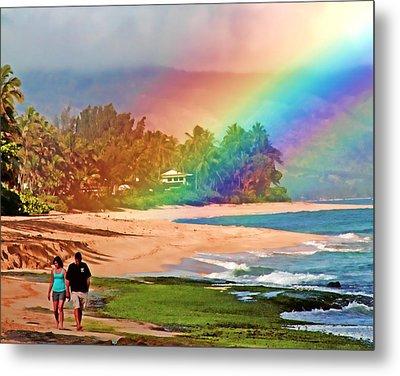 Love Under The Rainbow Metal Print by Joel Lau