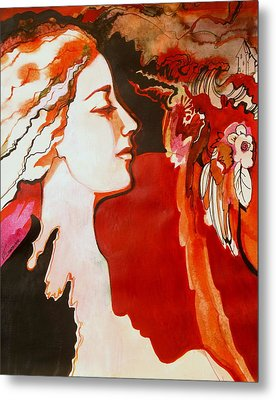 Metal Print featuring the painting Love by Valentina Plishchina