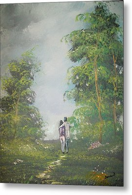 Love Walk In The Woods Metal Print by Raymond Doward