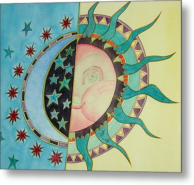 Love You Day And Night Metal Print by Anna Ruzsan