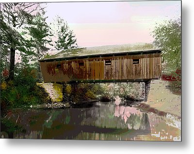Lovejoy Covered Bridge Metal Print by Charles Shoup