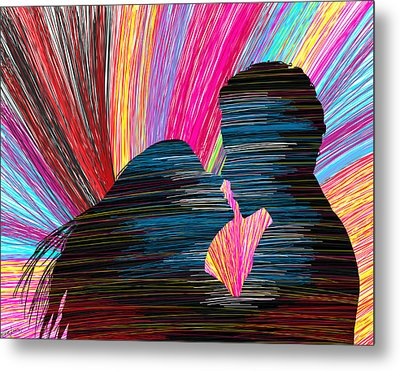 Lovers In Colour No.1 Metal Print by Kenal Louis