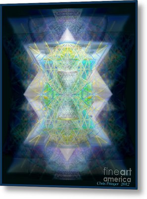 Metal Print featuring the digital art Love's Chalice From The Druid Tree Of Life by Christopher Pringer