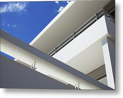 Low Angle View Of Modern Apartment Metal Print by Clerkenwell