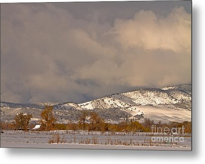 Low Winter Storm Clouds Colorado Rocky Mountain Foothills 2 Metal Print by James BO  Insogna