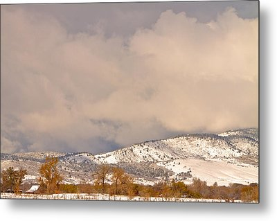 Low Winter Storm Clouds Colorado Rocky Mountain Foothills 4 Metal Print by James BO  Insogna