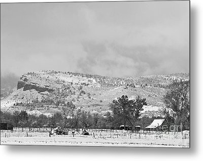 Low Winter Storm Clouds Colorado Rocky Mountain Foothills 7 Bw Metal Print by James BO  Insogna