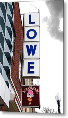 Lowe Drug Store Sign Color Metal Print by Andee Design