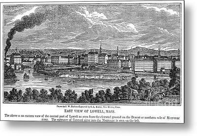Lowell: Factories, 1844 Metal Print by Granger