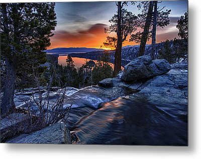 Lower Eagles Falls Metal Print by A