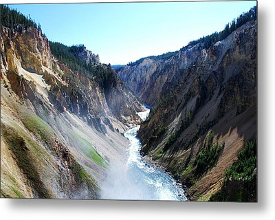 Lower Falls - Yellowstone Metal Print