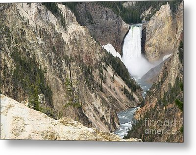 Lower Falls Another View Metal Print by Living Color Photography Lorraine Lynch