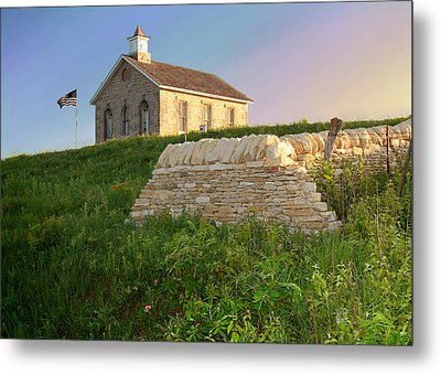 Metal Print featuring the photograph Lower Fox Creek School by Rod Seel