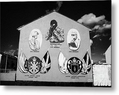 Loyalist Protestant Mural Uda Northern Ireland Metal Print by Joe Fox